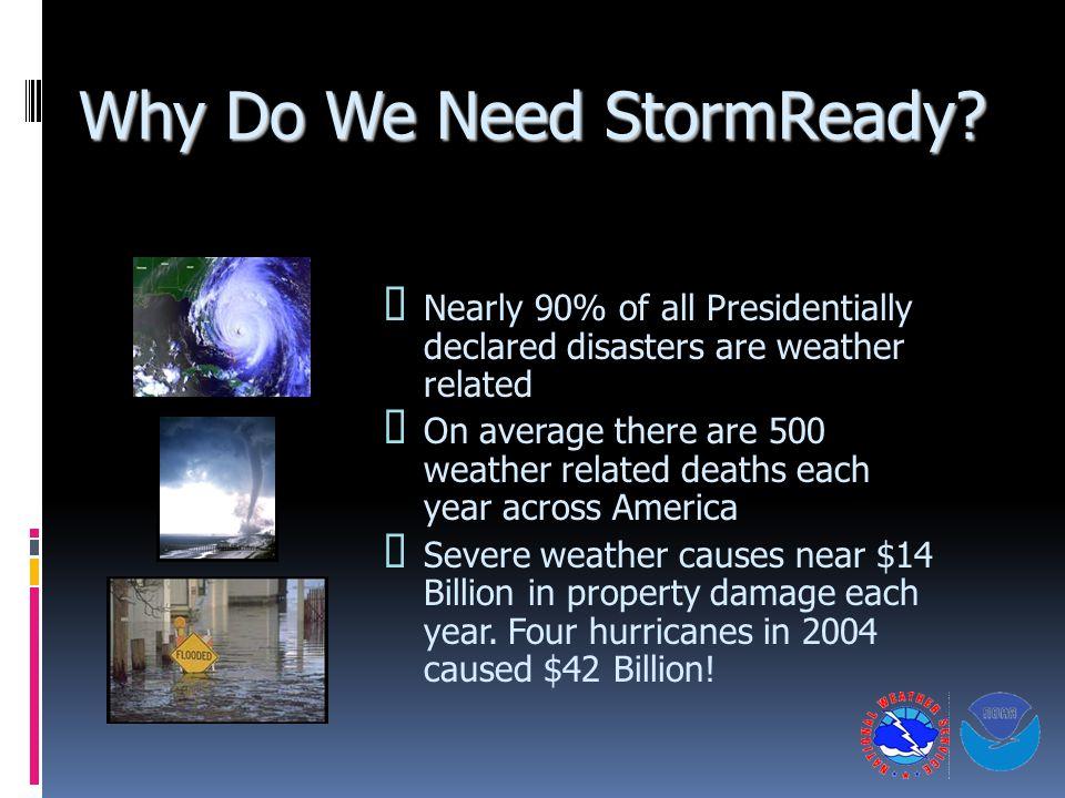 Why Do We Need StormReady