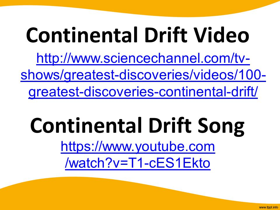 Continental Drift Video Continental Drift Song