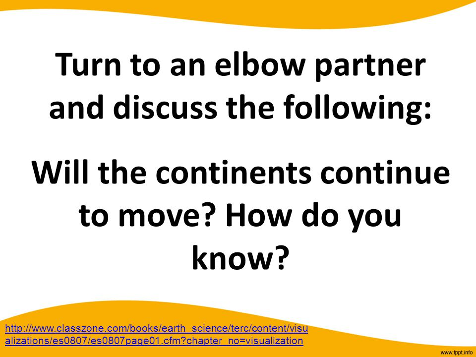 Turn to an elbow partner and discuss the following: