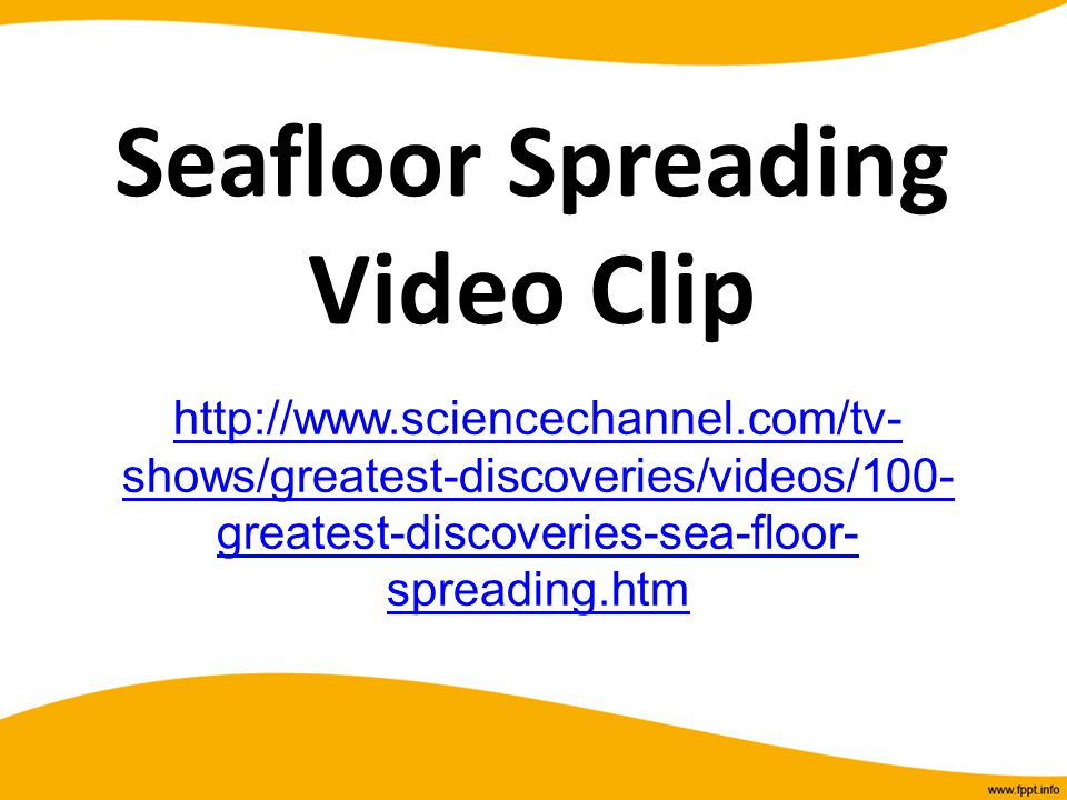 Seafloor Spreading Video Clip