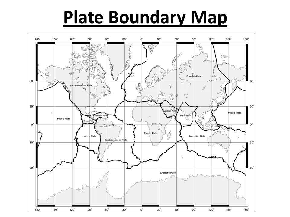 Plate Boundary Map