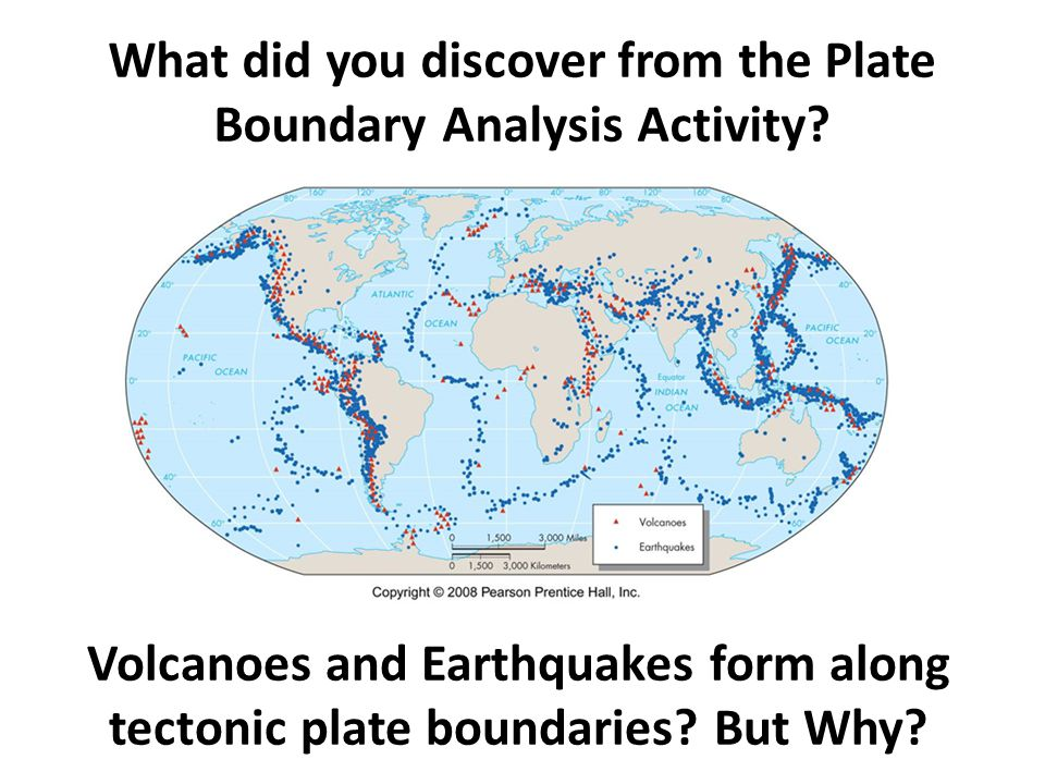 What did you discover from the Plate Boundary Analysis Activity