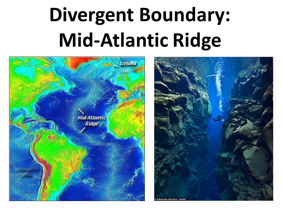 Divergent Boundary: Mid-Atlantic Ridge
