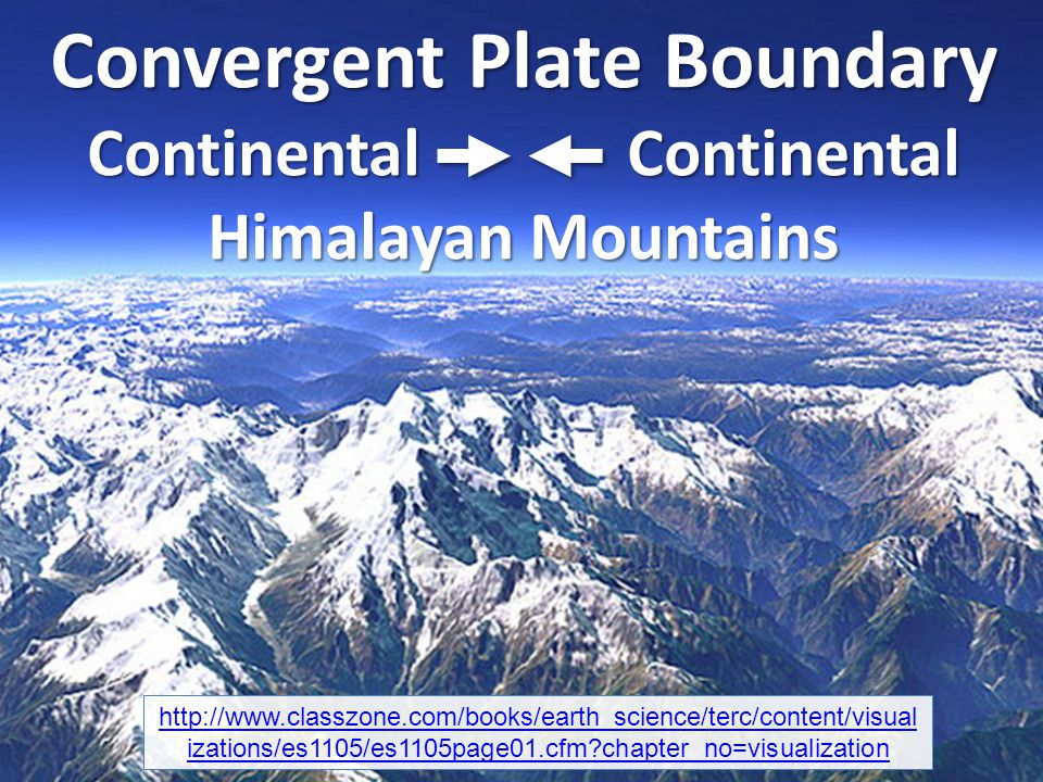 Convergent Plate Boundary Continental Continental