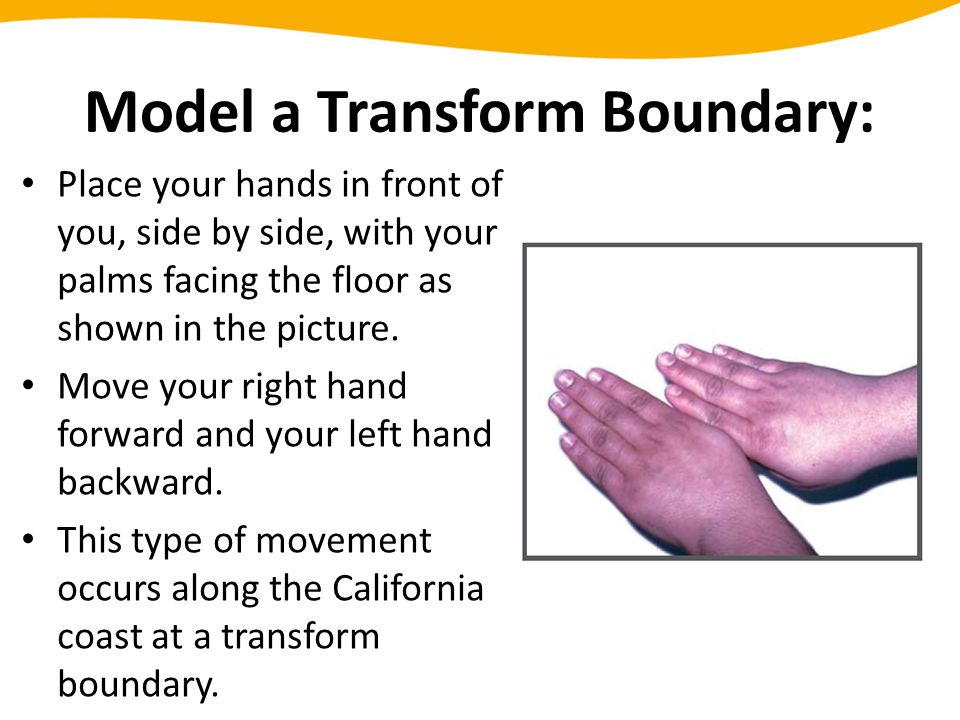 Model a Transform Boundary: