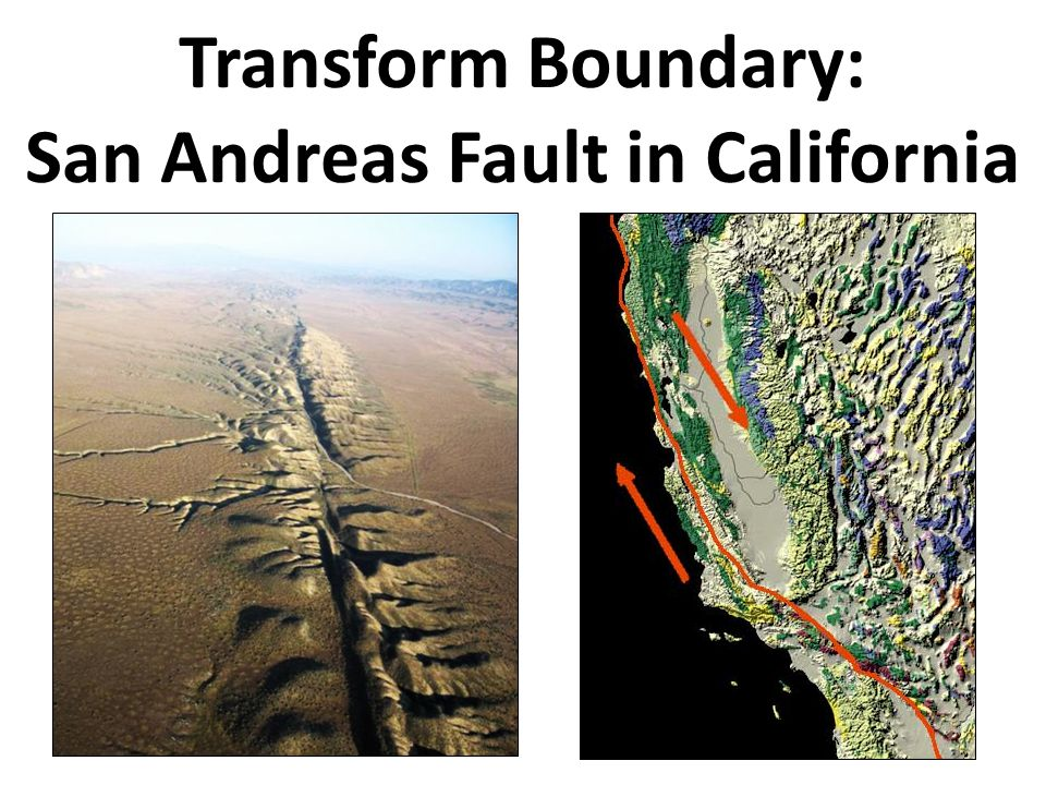 Transform Boundary: San Andreas Fault in California