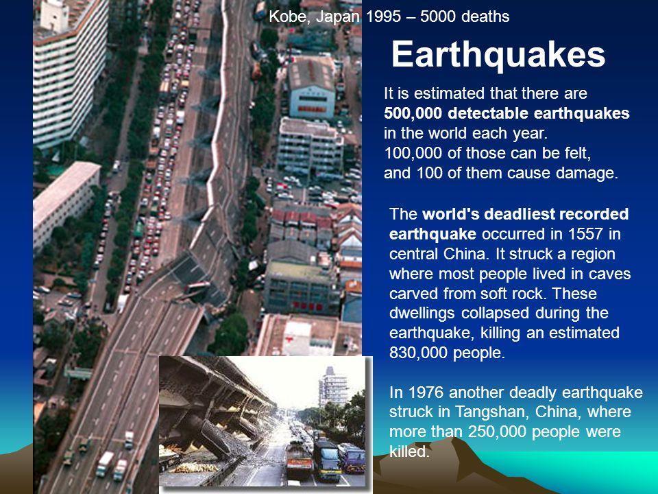 Earthquakes Kobe, Japan 1995 – 5000 deaths