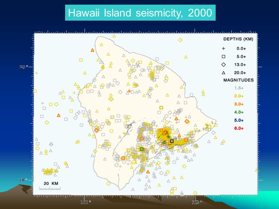 Hawaii Island seismicity, 2000