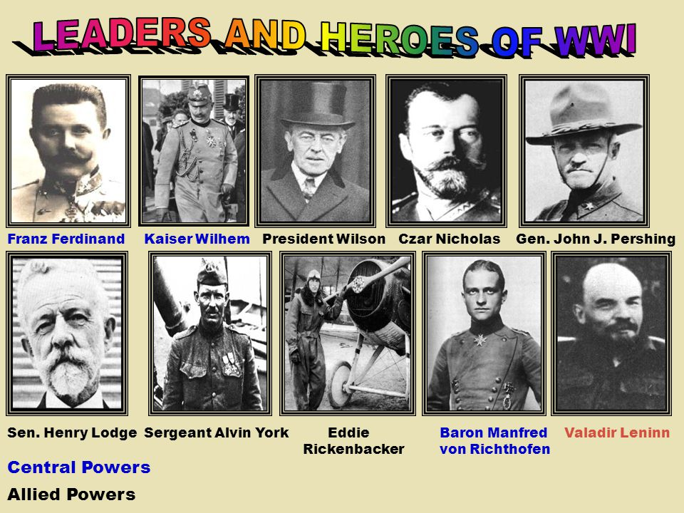 LEADERS AND HEROES OF WWI