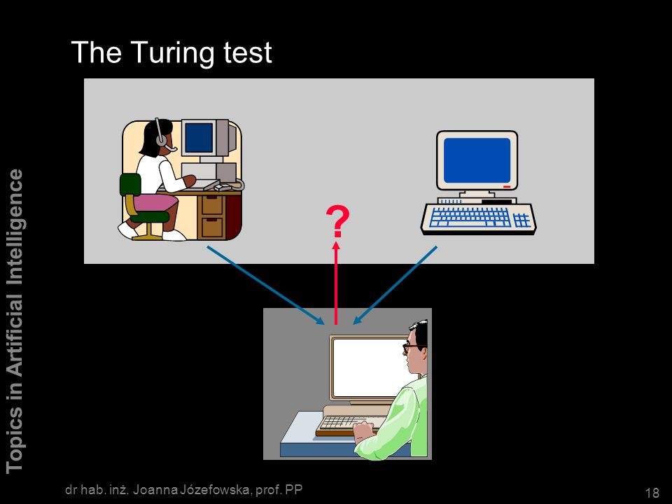 The Turing test dr hab. inż. Joanna Józefowska, prof. PP