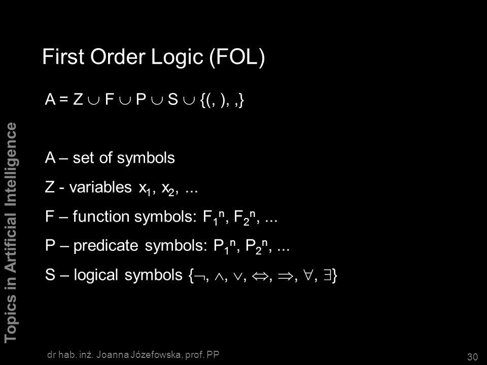 First Order Logic (FOL)