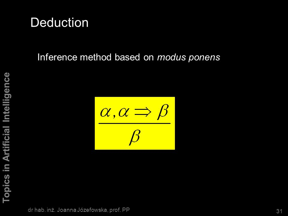Deduction Inference method based on modus ponens