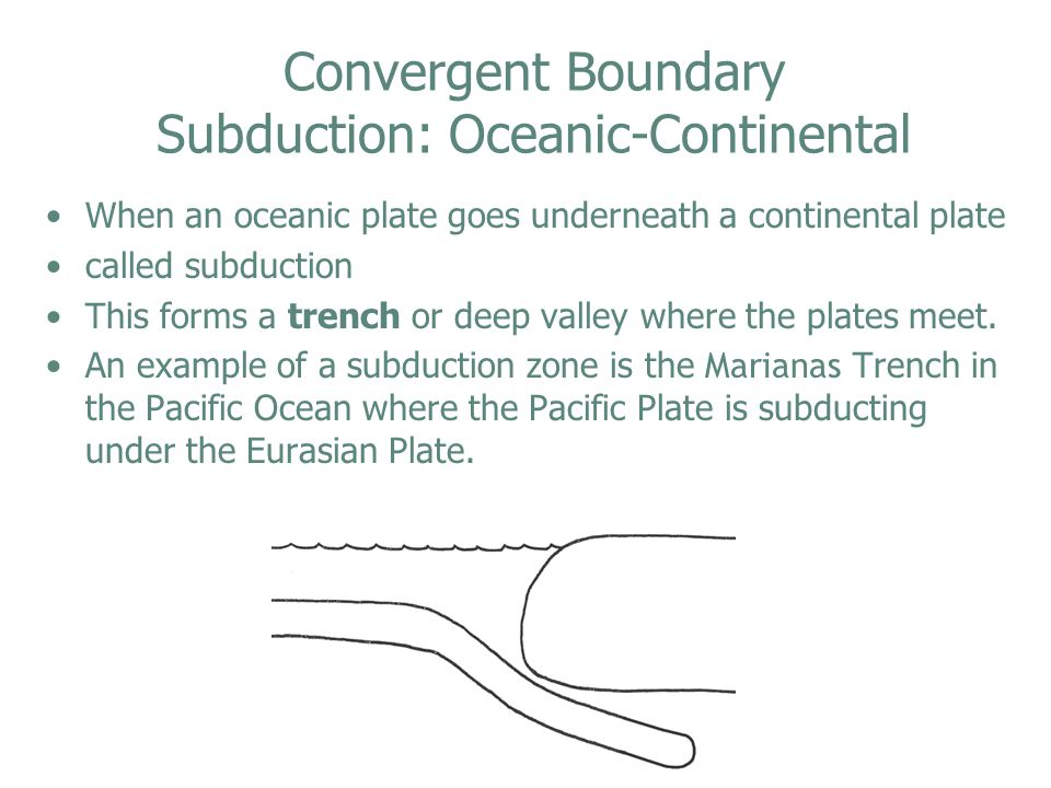 Convergent Boundary Subduction: Oceanic-Continental