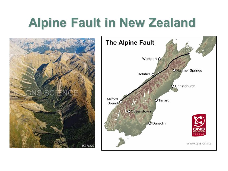Alpine Fault in New Zealand