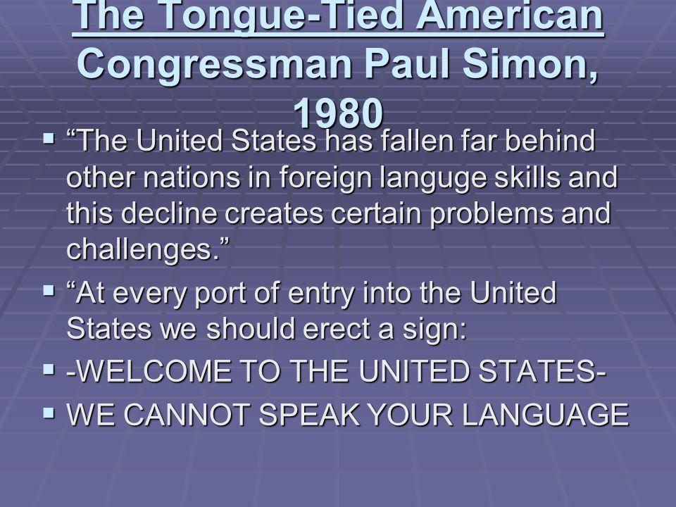 The Tongue-Tied American Congressman Paul Simon, 1980