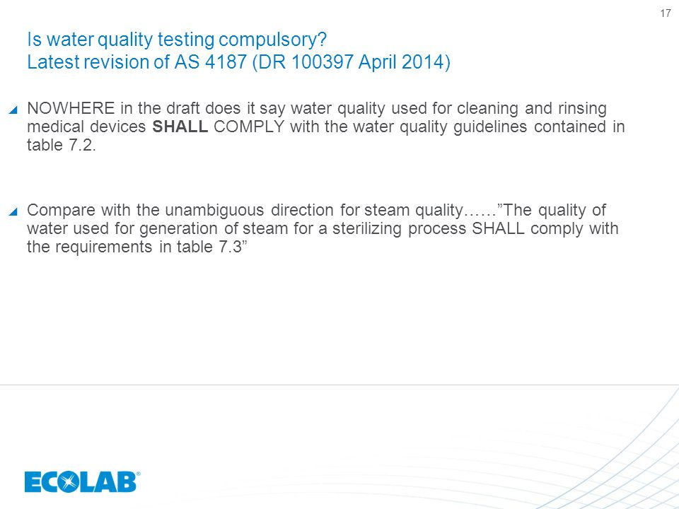 Is water quality testing compulsory