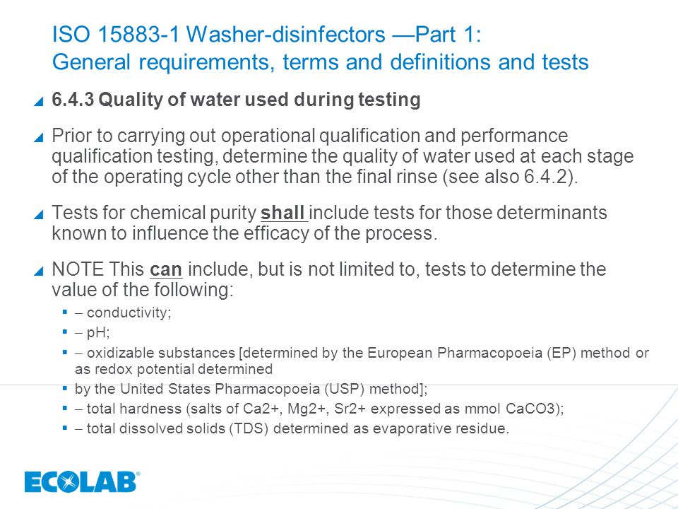 ISO 15883-1 Washer-disinfectors —Part 1: General requirements, terms and definitions and tests