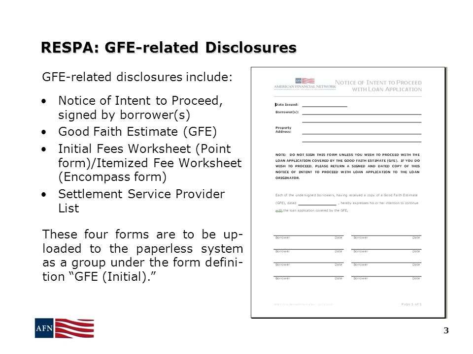 RESPA: GFE-related Disclosures