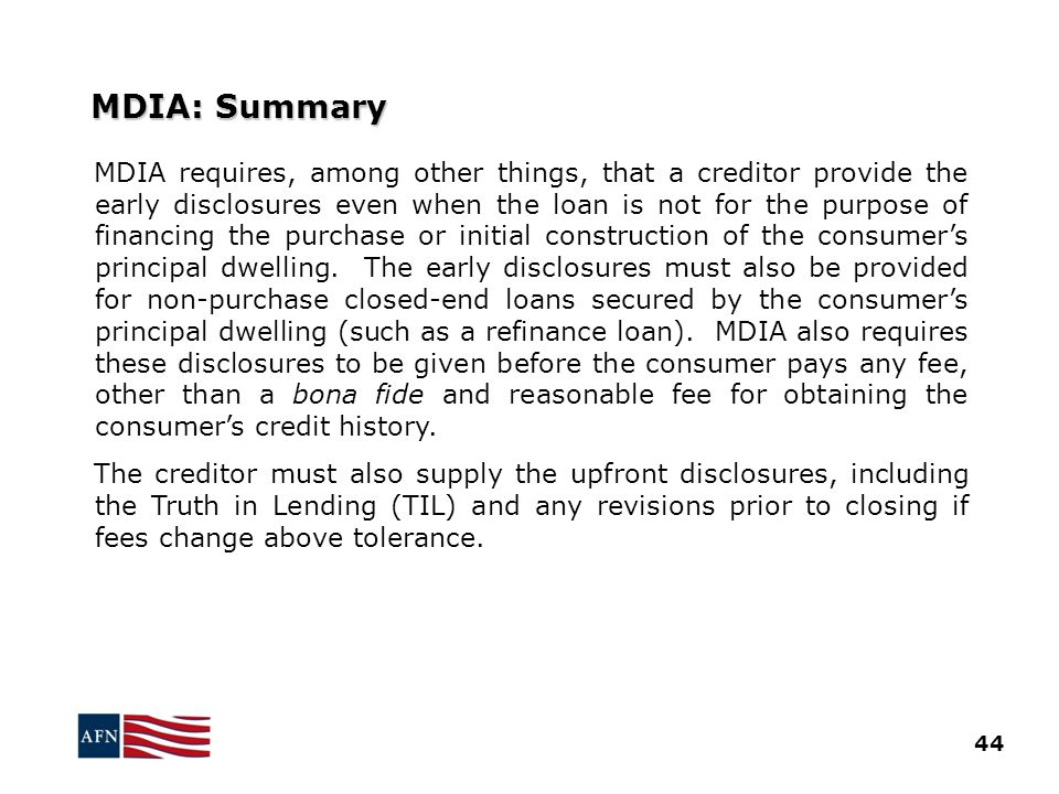 MDIA: Summary