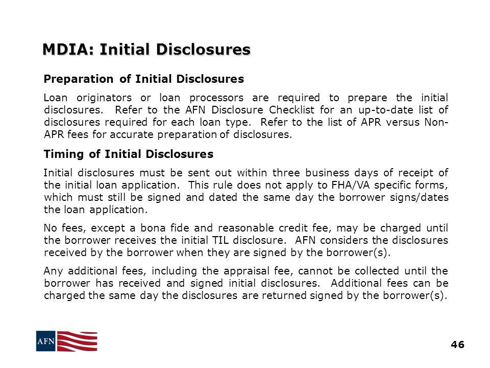 MDIA: Initial Disclosures