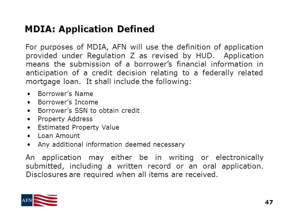 MDIA: Application Defined