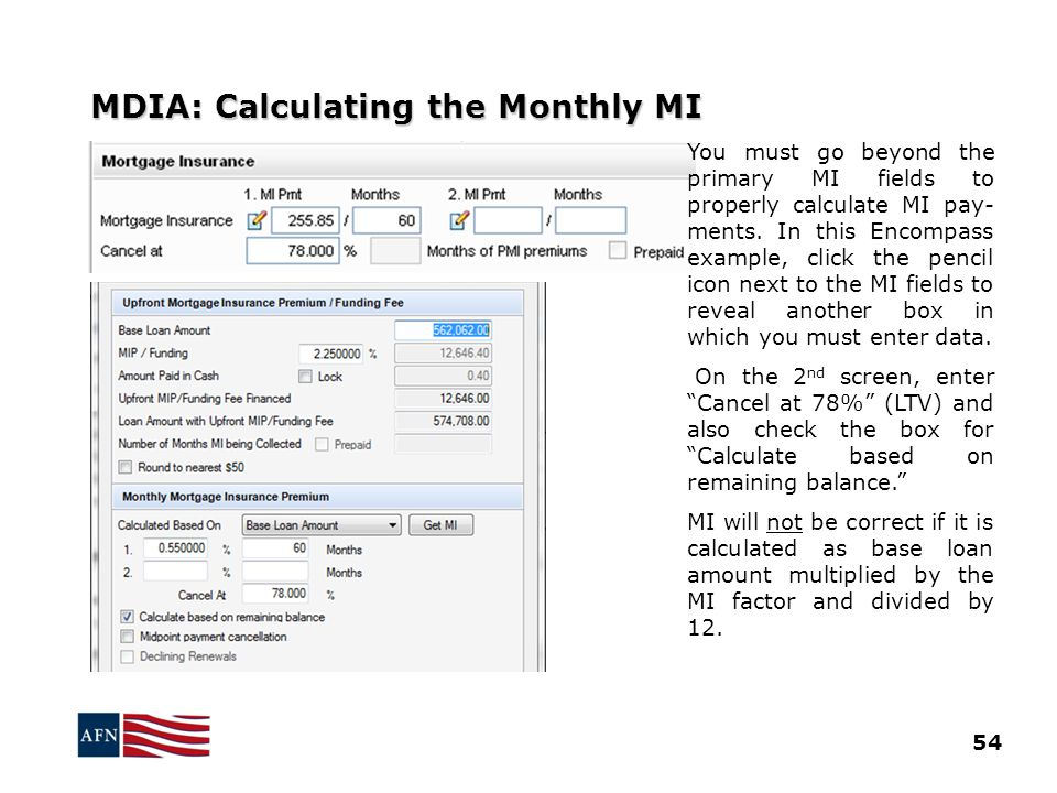 MDIA: Calculating the Monthly MI