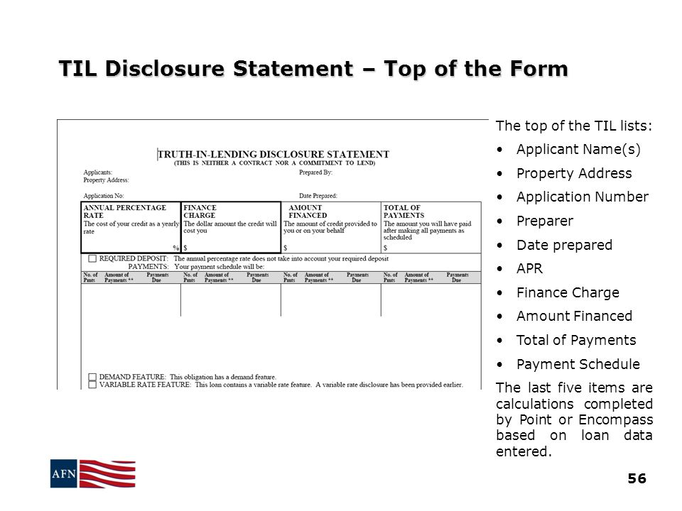 TIL Disclosure Statement – Top of the Form