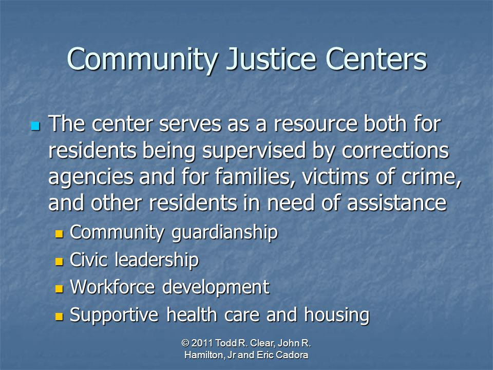 Community Justice Centers