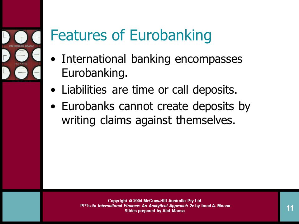 Features of Eurobanking