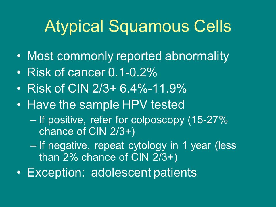 Atypical Squamous Cells