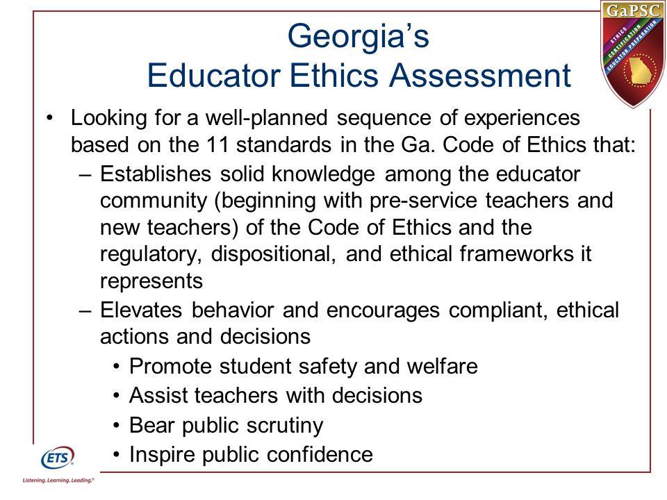 Georgia's Educator Ethics Assessment