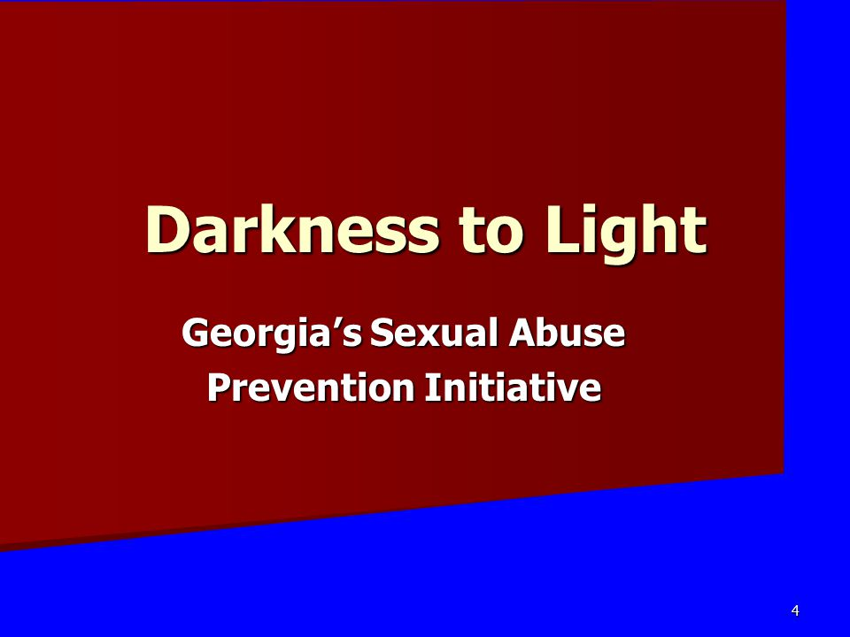 Georgia's Sexual Abuse Prevention Initiative