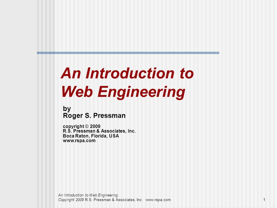 An Introduction to Web Engineering