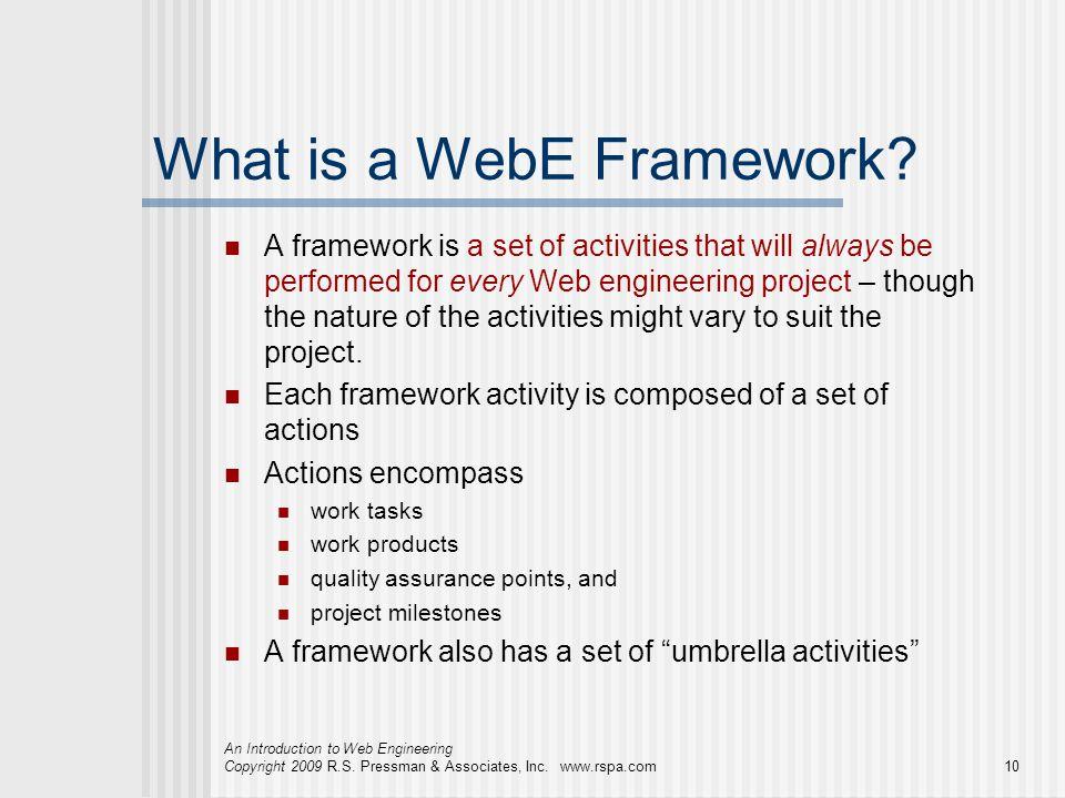 What is a WebE Framework