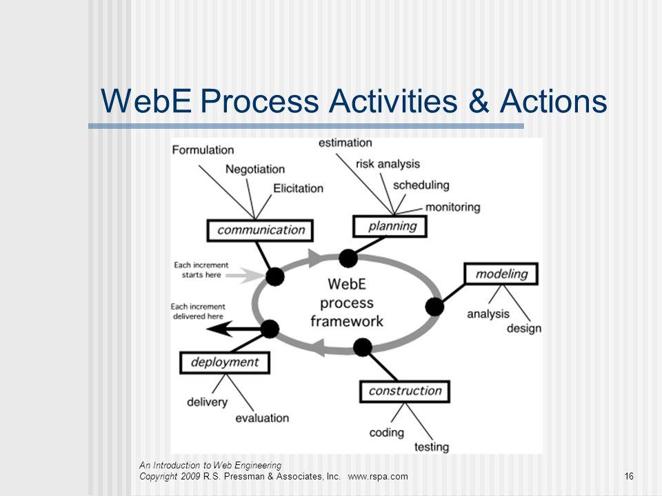 WebE Process Activities & Actions