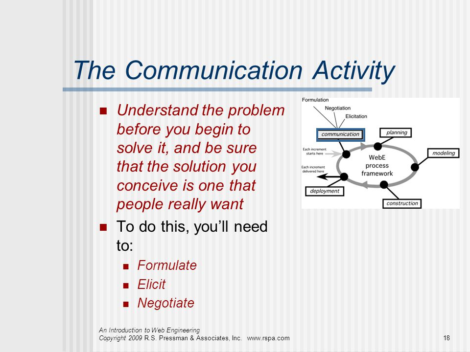 The Communication Activity