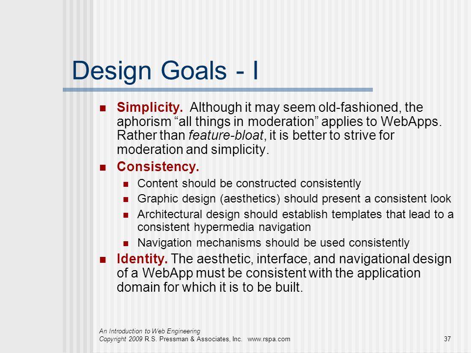 Design Goals - I