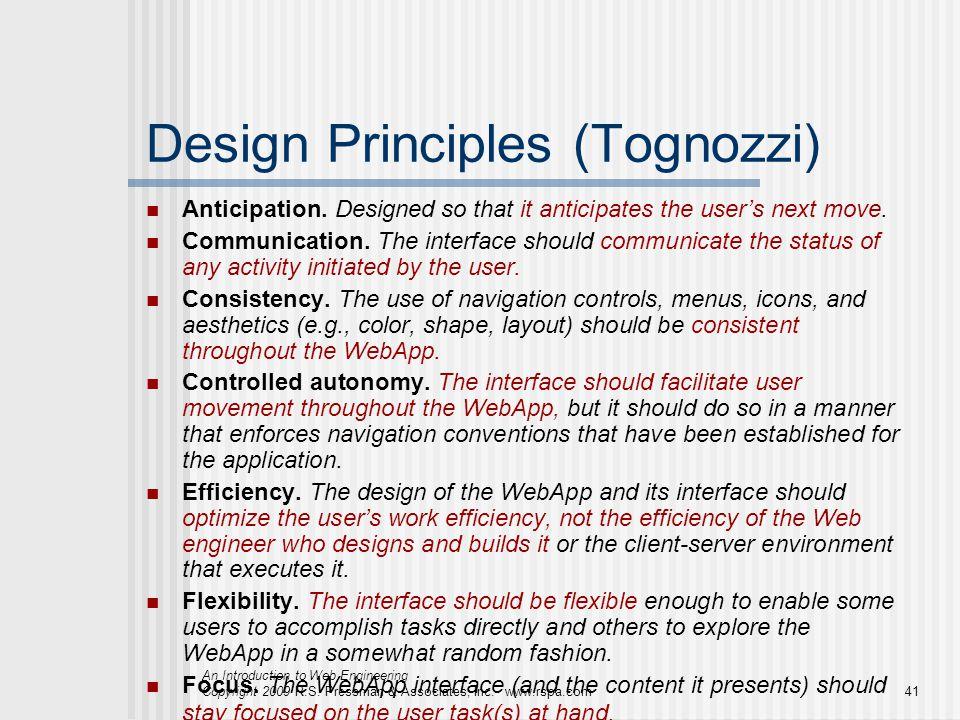 Design Principles (Tognozzi)