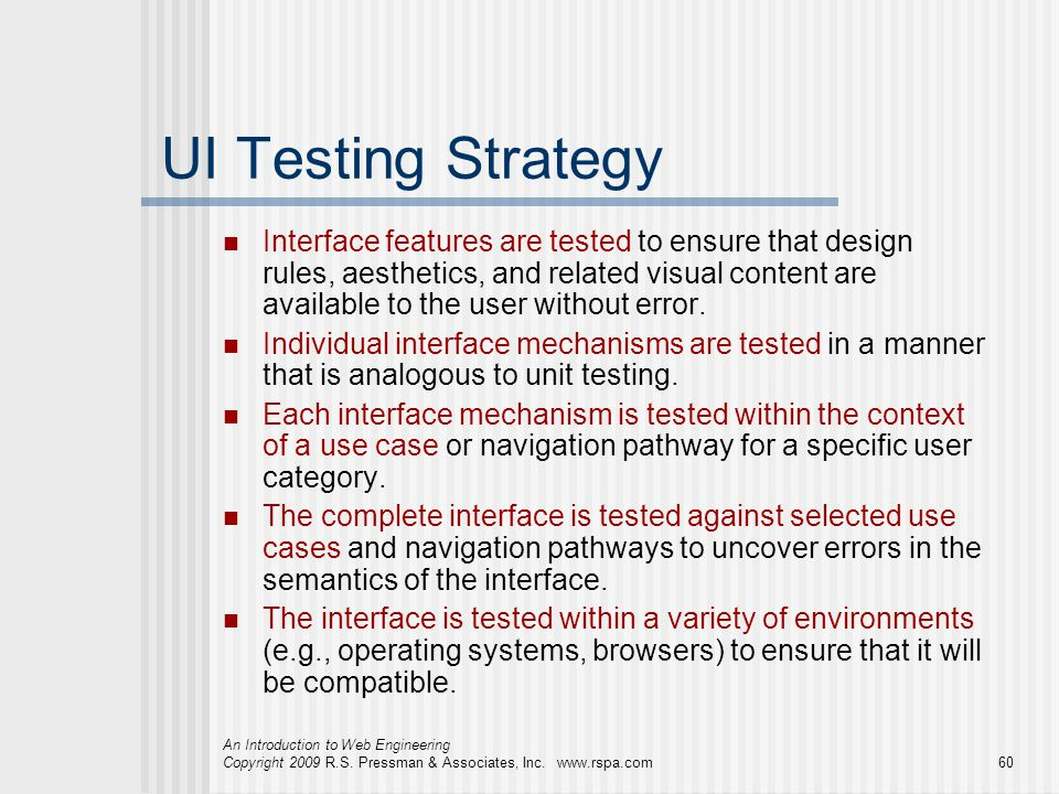 UI Testing Strategy