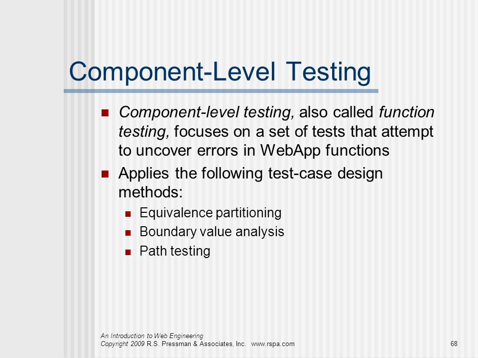 Component-Level Testing