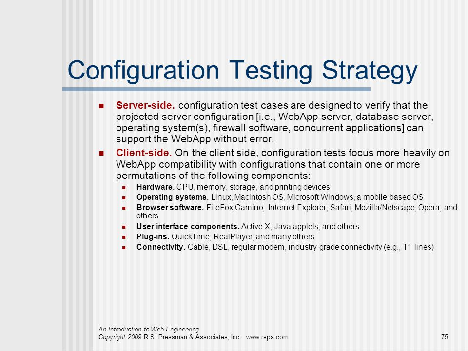 Configuration Testing Strategy