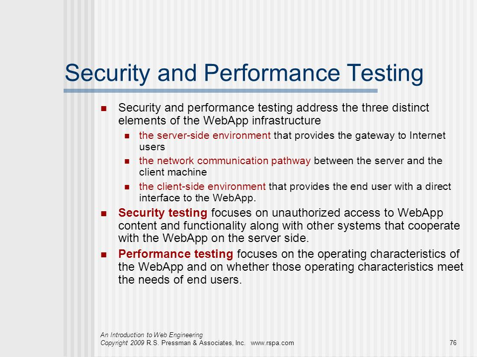 Security and Performance Testing