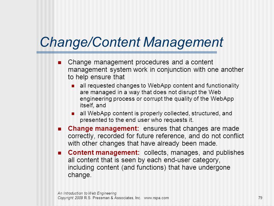 Change/Content Management