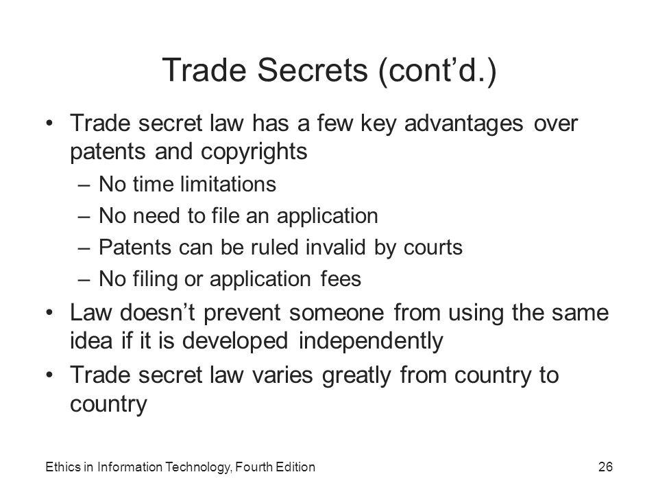 Trade Secrets (cont'd.)