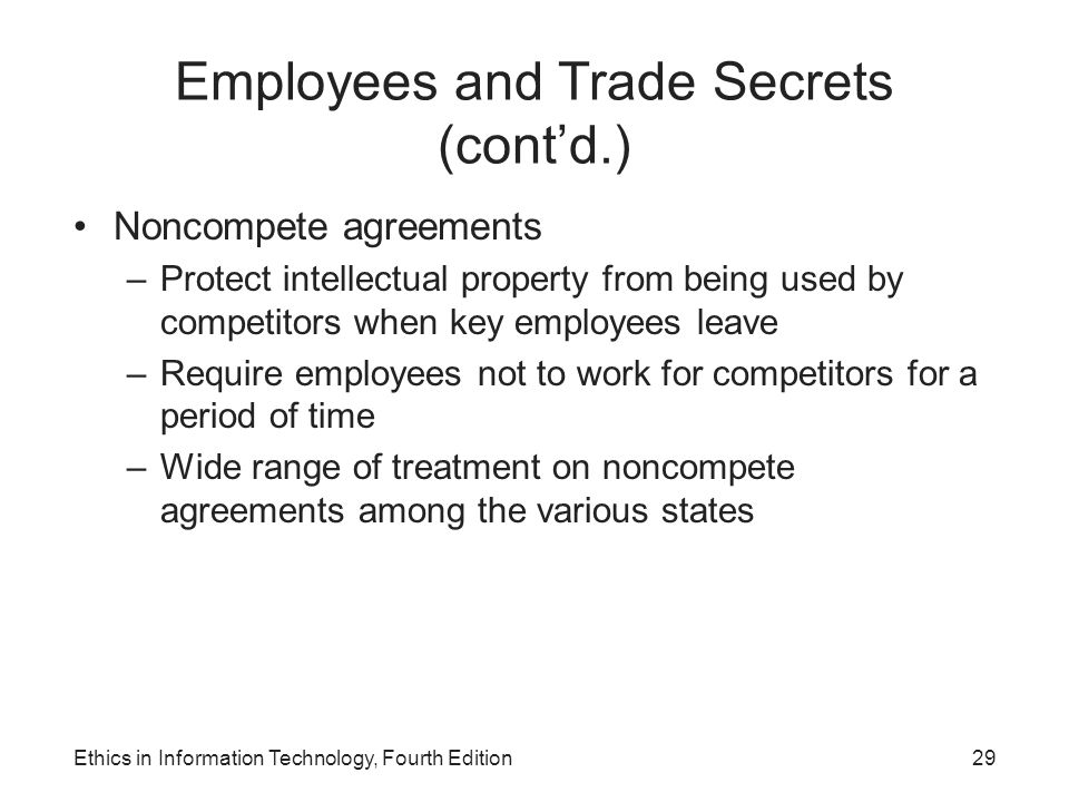 Employees and Trade Secrets (cont'd.)