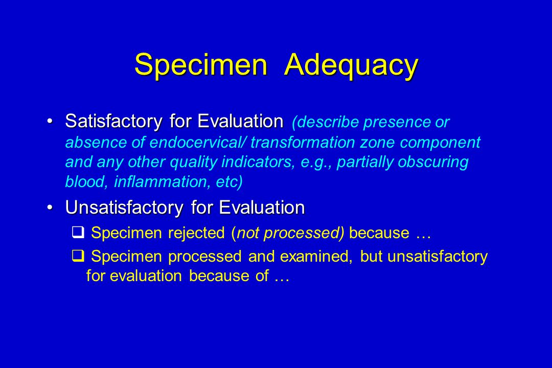 Specimen Adequacy