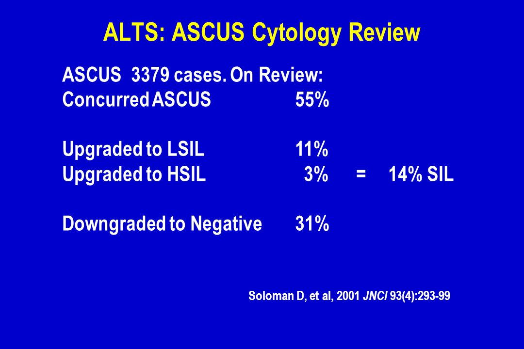 ALTS: ASCUS Cytology Review