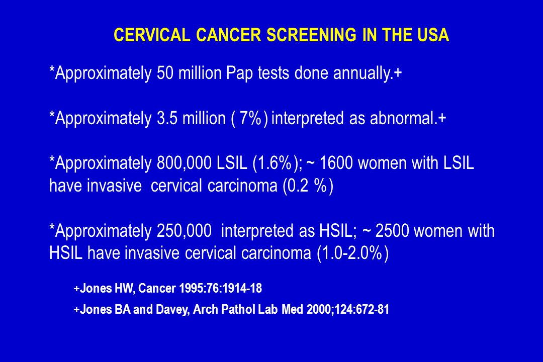 CERVICAL CANCER SCREENING IN THE USA