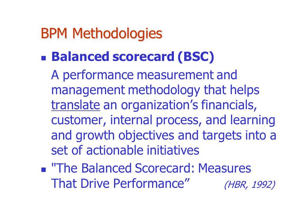 BPM Methodologies Balanced scorecard (BSC)