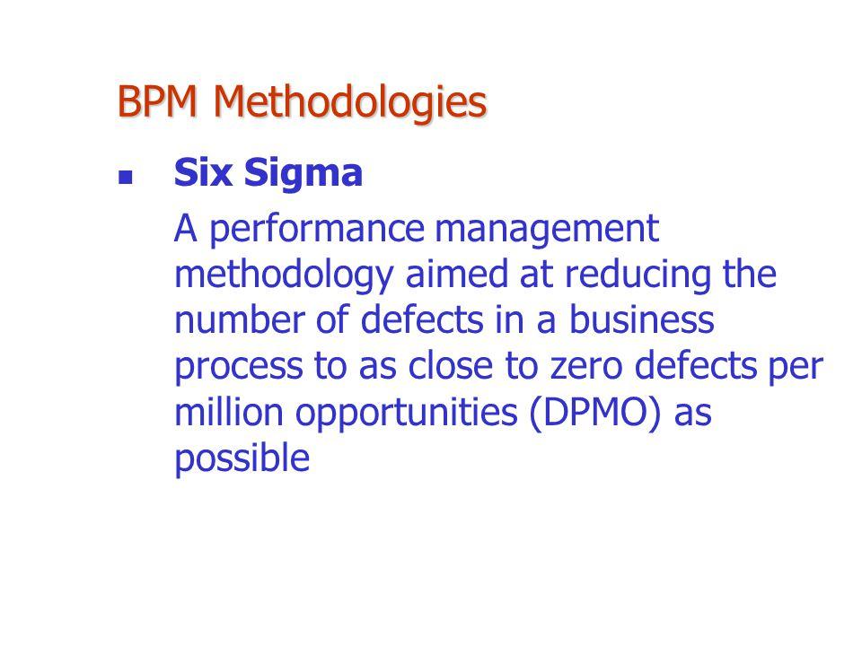 BPM Methodologies Six Sigma